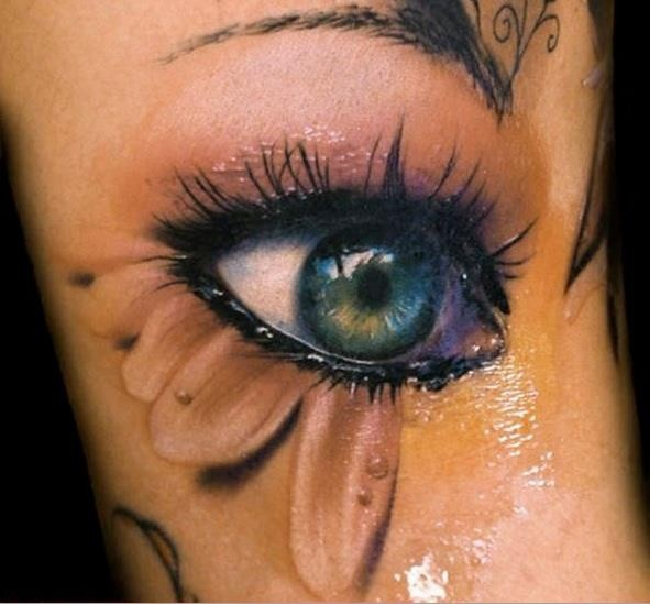 3d eye ball tattoo. Black Bedroom Furniture Sets. Home Design Ideas