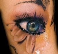 3d eye ball tattoo