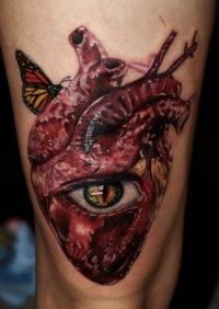 Disturbing heart with eye by Carlox Angarita