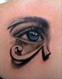 Egyptian eye tattoo