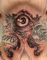 Evil eye tattoo  by graynd