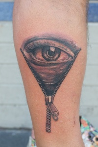 Eyeball tattoo by graynd on arm