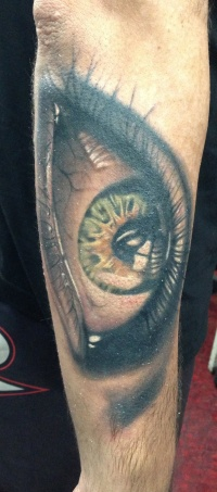 Freestyle eye tattoo by viptattoo