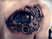 Mechanical eye tattoo